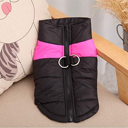 Giacca Pet Puppy Vestiti del Cane Piccolo Cotone Spesso Vestiti del Cane Autunno Inverno Pet Ski Suit (Color : Pink, Size : S)