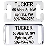 dog id tags personalized - GoTags Slide-On Pet ID Tags, Personalized Dog and Cat Tags, Silent, No Noise Collar Tags Made of Stainless Steel, Custom Engraved, (Open for Snap Closure Collars)