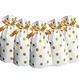24pcs Treat Bags Party Favor Bags Gold Plastic...
