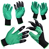 3 Pairs Garden Gloves, Garden Genie Gloves with Claws Sturdy Waterproof Breathable,for Planting, Weeding, Seeding, Gardening, Digging,Best Gardening Gifts for Women and Men