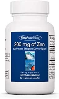 Sponsored Ad - Allergy Research Group - 200 mg of Zen - Stress Relief and Sleep Support - 60 Vegetarian Capsules