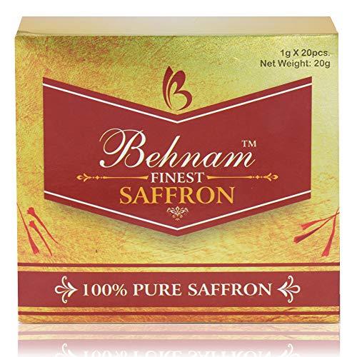 Behnam Organic Afghani A Grade Saffron / Kesar Threads (20 Gram)