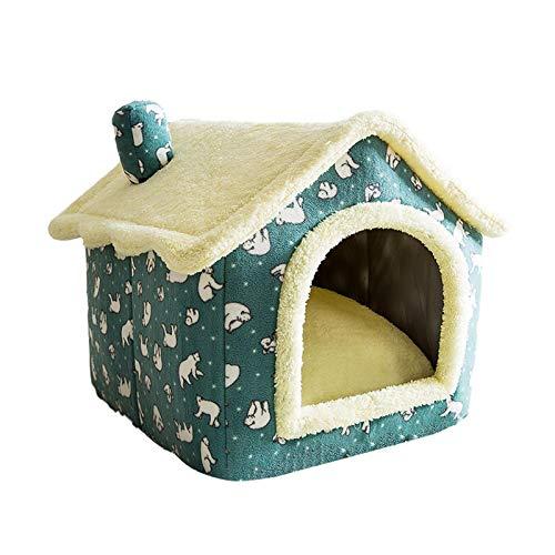 precauti Pet House Rimovibile Soft Dog Cat Pet House Pieghevole Indoor Dog House Lavabile Pet COT Cottage