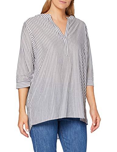 ONLY Carmakoma womens, Shirt, Weiß (Stripes:NIGHT SKY Cloud Dancer), 54