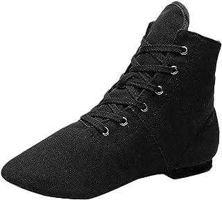 OHQ Zapatos De Baile Mujer Lona Jazz Ballet Danza Aptitud Sandalias De Vestir Transpirable Zapatillas CóModo Y Elegante