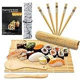 DYFFLE Sushi Set, 10 Teile - Sushi Maker Set für Anfänger, Sushi Selbst Machen Set (2 Sushi Matte + 1 Reisstreuer + 1 Paddy Paddel + 5 Stäbchen + 1 Anweisungen)