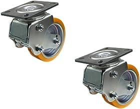 Zwenkwielen (2 stuks) kernwiel 8 inch zwaar uitgevoerd schokwiel AGV robot speciaal schokwiel pu universeel