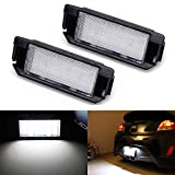 iJDMTOY OEM-Fit 3W Full LED License Plate Light Kit Compatible with Hyundai 2011-17 Veloster, 2009-16 Genesis Coupe, Kia 2009-19 Soul, Powered by 18-SMD Xenon White LED Diodes