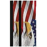 Oarencol Juego de 2 fundas para manija de puerta de nevera, diseño vintage de águila calva americana, estilo patriótico de 4 de julio, decoración de electrodomésticos para nevera, horno y lavavajillas