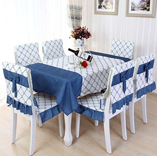 DGF Toile en tissu-Art Rectangle Ensemble de coussin de siège en tissu de table Ensemble de coussins de siège (multi-couleurs multi-dimensions en option) ( Couleur : A , taille : 4 (back+cushion)+110*160 )