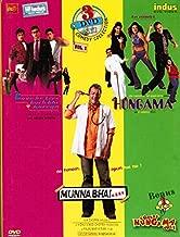 3 Dvd Set Comedy Collection Vol.1 (Love Ke Liye Kuch Bhi Karega / Hungama / Munna Bhai M.B.B.S + Bonus 1 VCD Comedy Hungama Vol.1) Brand New 3 Disc Dvd, All With English Subtitles)