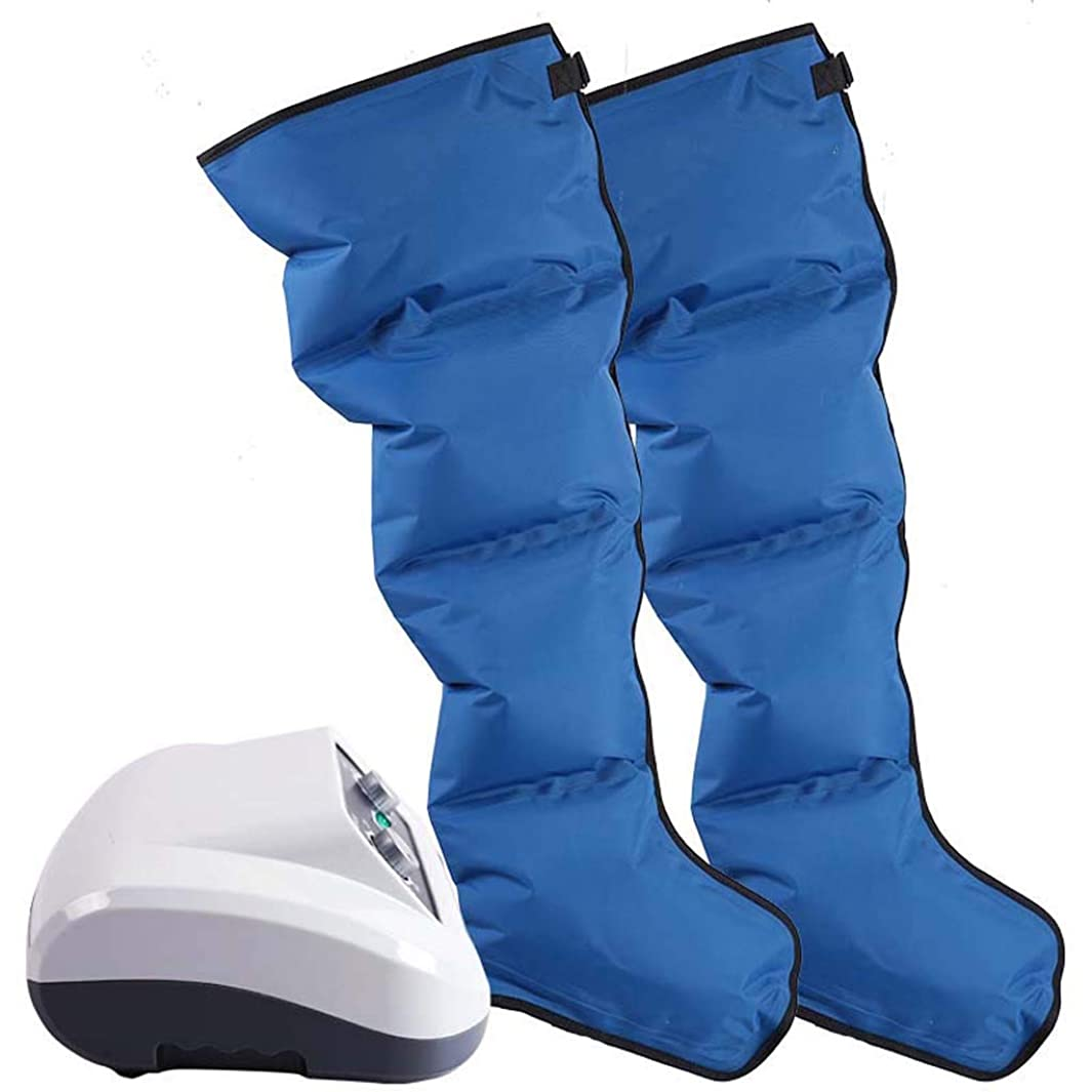 錆び本土スーダンYhz@ レッグマッサージャー、ふくらはぎ混練足家庭用空気圧理学療法エアウェーブマッサージャー - PV素材 - ブルー