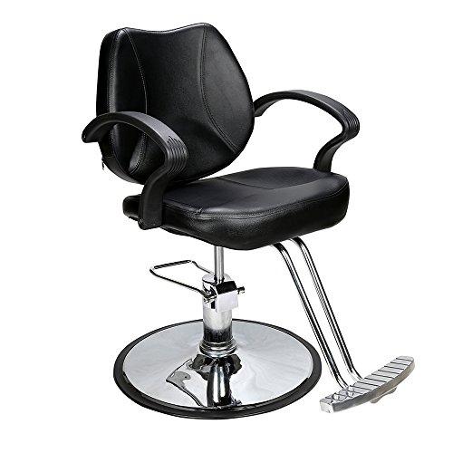 Barberpub Silla de peluquería, Acero, Negro, Talla única