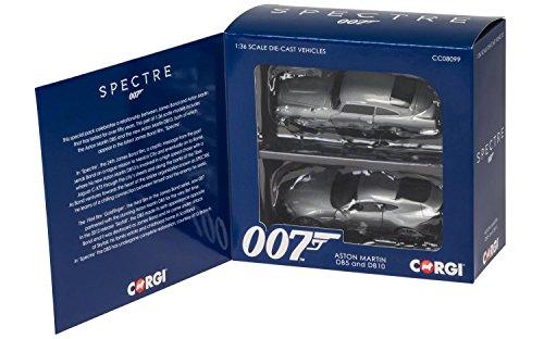 "Hornby Corgi ""James Bond Aston Martin Spectre"" Auto, 2 Stück, Silber"