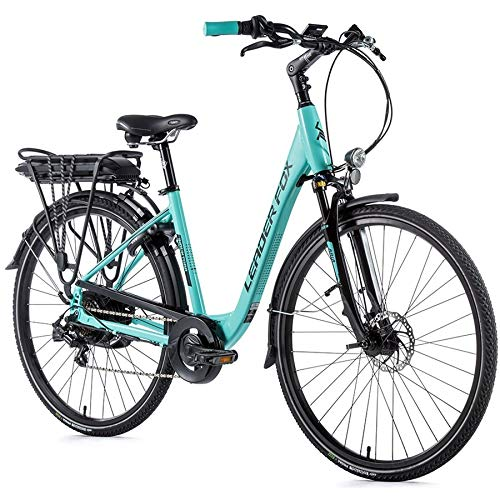 28 Zoll Leader Fox Induktora E Bike Elektro Fahrrad Pedelec 576Wh Scheibenbremsen türkis 46cm