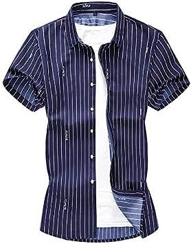 RelaxLife Camisa de Manga Corta para Hombre Blusa De Manga ...