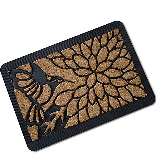 Rmbearmoni deurmat gemaakt van rubber, absorberend, antislip, deurmat zonder kaart, 40 x 60 cm