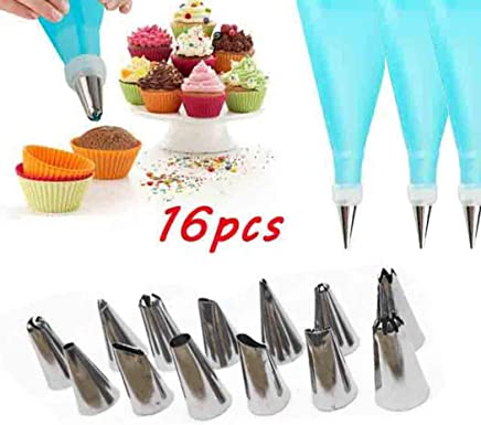924be01b39 Pinsparkle Western Kitchen Baking Utensils Stainless Steel Cake Decorating  Tool Set Icing Dispensers   Tips