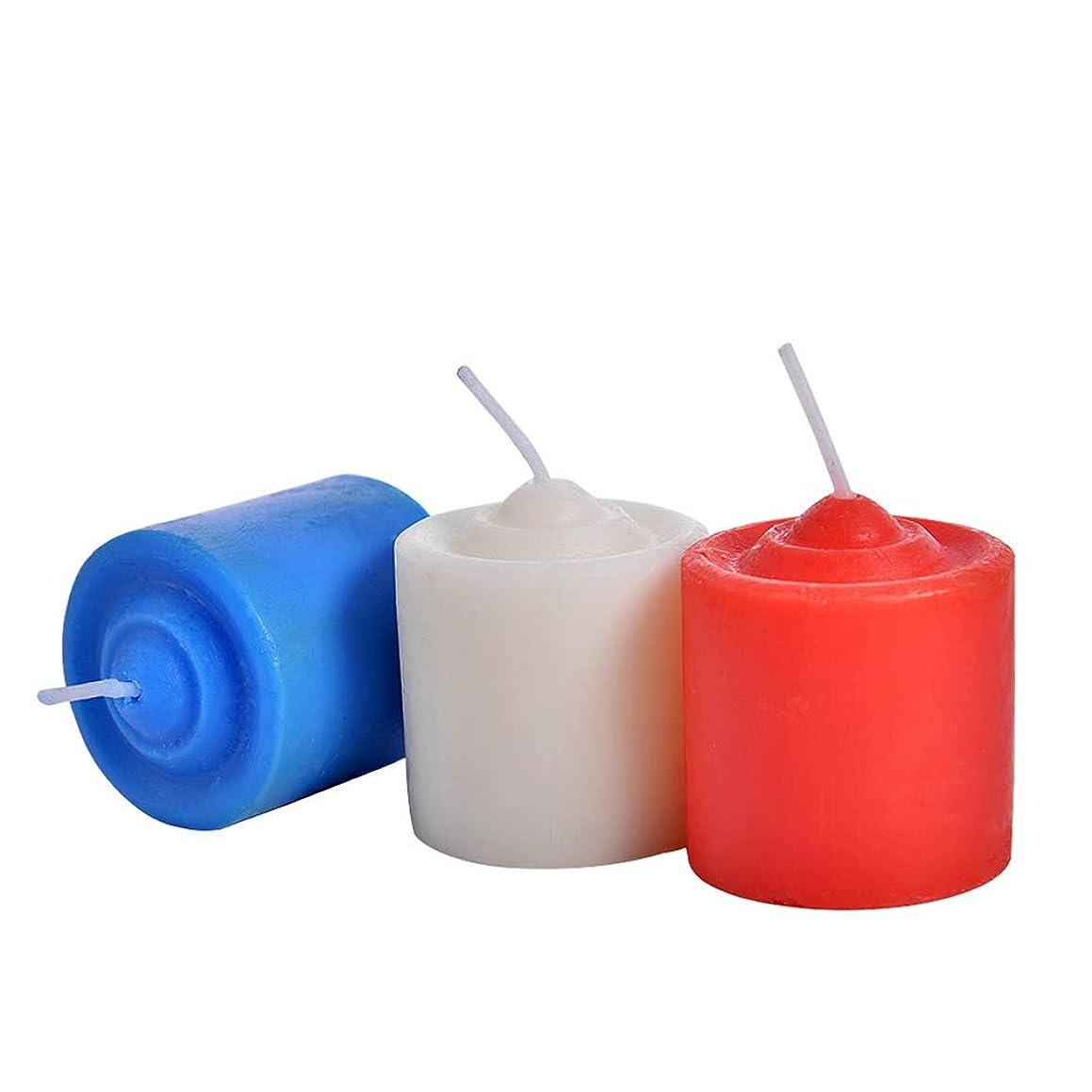 ライバルシャンプー収束するBESTOYARD 低温ローソク 低温キャンドル SM専用 大人 カップル 恋人 3ピース(赤いホワイトブルー)