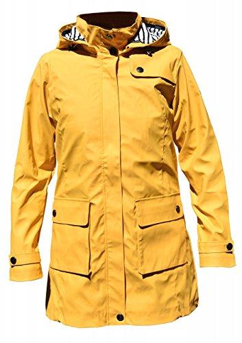 Batela Damen Regenmantel 3/4 Länge Friesennerz mit Innenfutter, Farbe:gelb, Größe:40