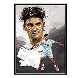 Swarouskll Roger Federer Tennisspieler Sport Star Poster