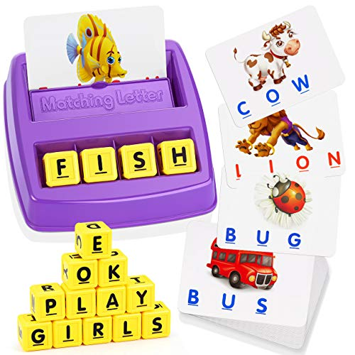 ATOPDREAM 3-8 Year Old Boys Girls Toys, Scrabble Letters Boys Toys Age 3-8 Baby...