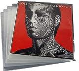 """Custodia per Vinile, in Polipropilene, per Album Singolo, Doppio e Apribile, da 33 giri, 12"""", 32,5 x 32,5 cm, 80 micron, Confezione da 50 Pezzi"""