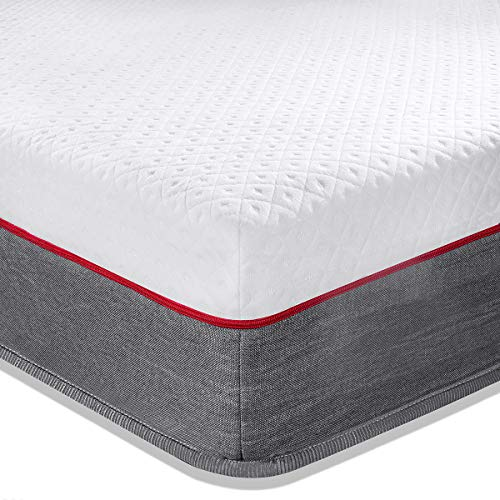 Tiantu 5FT Spring Mattress Skin-Friendly and Durable Memory Foam Mattress With Independent Pocket Springs and Soft Knitted Fabric Fireproof (150x200x24cm)