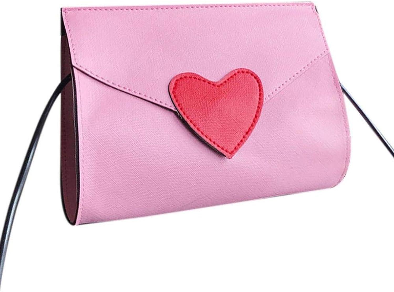 Bloomerang Charming Women Simple Peach Heart Decoration Single Shoulder Bag Summer Fashion Lady Party Night Club Crossbody Bag color Pink