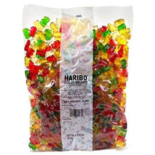 Haribo Gold-Bears Gummi Candy, 5 Pound-SET OF 2