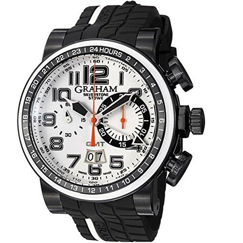 GRAHAM Silverstone Herren-Armbanduhr 48MM SCHWARZ AUTOMATIK ANALOG 2BLCD.W04A