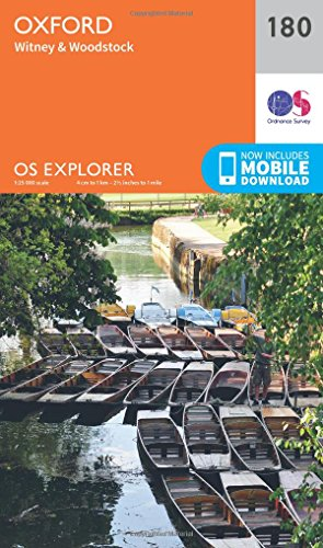 OS Explorer Map (180) Oxford, Witney and Woodstock