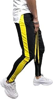 MogogoMen Comfy Relaxed-Fit Harem Stitch Basic Cotton Sport Training Pants