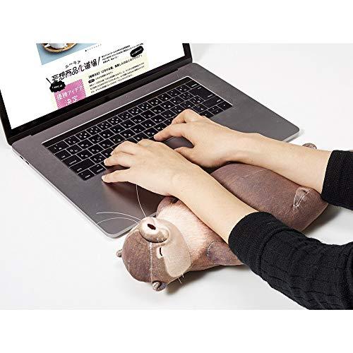 JAWSEU Federmäppchen Schüleretui Niedliche Otter Stiftemappe,Niedliche Otter-Tastatur Handballenauflage, 2 Verwendungszwecke,Tasche im Cartoon-Format, braun 40 cm verwendet werden