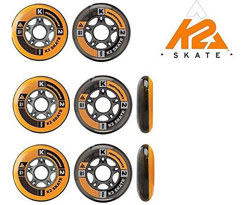 K2 PERFORMANCE FORMULA SKATE ALLROUND FITNESS ROLLEN 8 Stück 80mm/82A (2 x 3053003.1.1)
