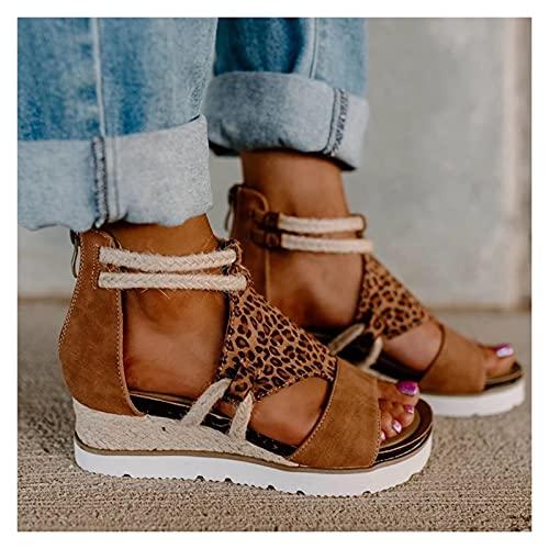 Youpin Sandalias de verano para mujer, estilo romano, estilo informal, con punta abierta, punta abierta, para mujer, estilo romano, tallas grandes (color: BW, talla de zapato: 39)