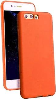 حافظة بلاستيك غير لامع أملس ومرن وناعم وألوان حلوى TPU لهاتف Huawei P10 PLUS (أحمر فاتح)