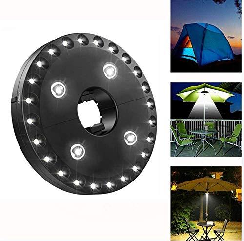 SD&EY LED abnehmbare Zeltbeleuchtung, Regenschirm, batteriebetrieben, Außenlicht für Notfälle Wandern Camping