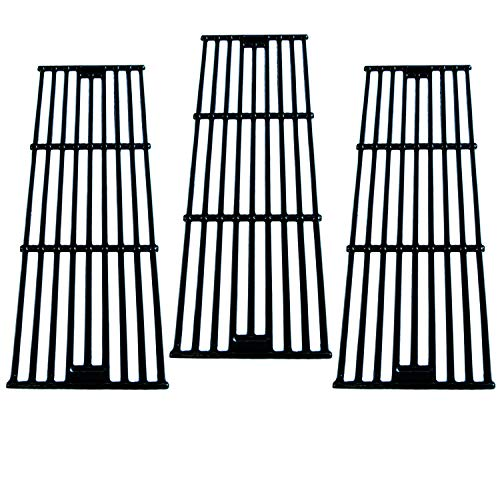 Direct Store Parts DC114 (3-Pack) Porcelain Cast Iron Cooking Grid Replacement for Chargriller, King Griller Gas Grill (3)