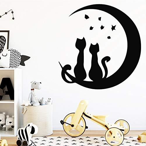 sxh28185171 Pareja de Dibujos Animados Pegatinas de Pared decoración del hogar Adornos de Dormitorio Dulce Amor Pegatinas de Pared Papel tapizM 30cm X 31cm