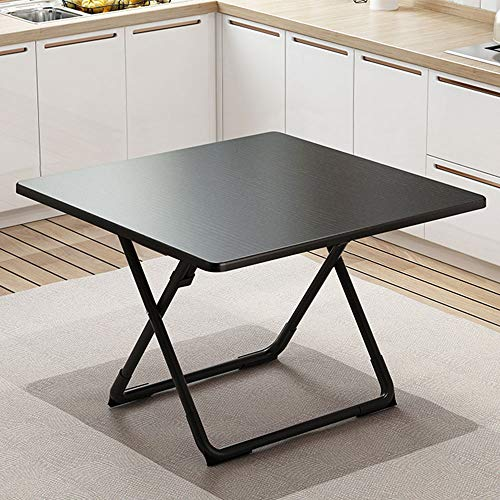 Moderne Vierkante Tafel, Portable Outdoor Eettafel, met antislipvoetjes Pad en Folding Design, Home Restaurant Bar Caf,Black