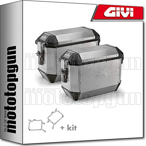 givi portamaletas lateral fijacion rapida + maletas lateral trekker alaska ala36apack2 compatible con bmw f 800 gs 2014 14