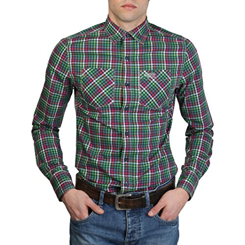SUPERDRY - Chemises Superdry Vert Homme - MS4HE350F1_GREEN - L