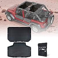 Xprite サンシェード フロントとリアメッシュスクリーン サンシェード カバー UV ブロック 予備収納バッグ付き ブラック