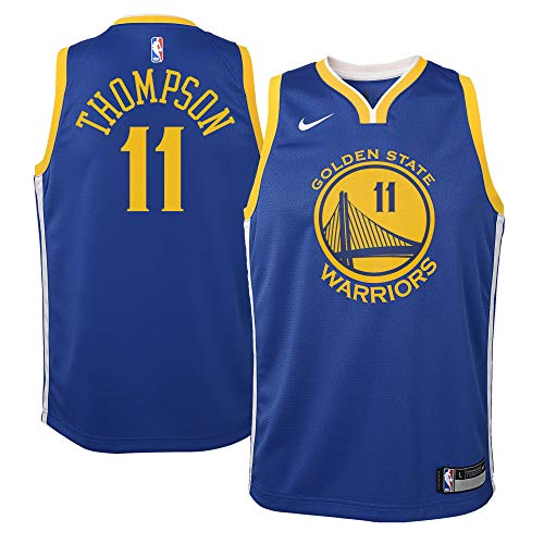 Nike Klay Thompson Golden State Warriors NBA Youth 8-20 Royal Blue Road Icon Edition Swingman Jersey (Youth Small 8)