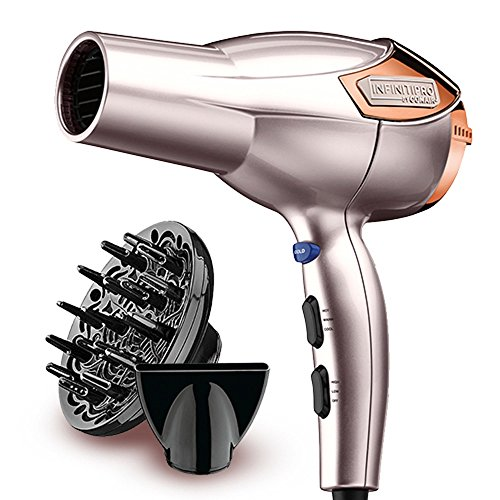 INFINITIPRO BY CONAIR 1875 Watt Lightweight AC Motor Styling Tool/Hair Dryer; Rose Gold
