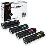 4 Toner kompatibel für Samsung CLP-680DW/SEE CLP-680ND/SEE CLX-6260FW/SEE CLX-6260FD/SEE - CLP680 CLT-K506L/ELS CLT-C506L/ELS CLT-M506L/ELS CLT-Y506L/ELS - Schwarz 6000 Seiten, Color je 3500 Seiten