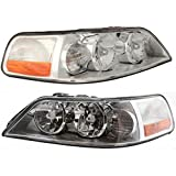 For Lincoln Town Car Headlight Assembly 2003 2004 Pair Driver and Passenger Side