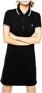 Vestido Mujer Negro Doble Banda Blanca 5101 350