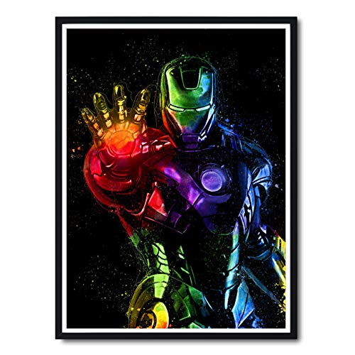 Iron Man Abstract Painting Fine Art Print, Avengers Infinity Wars Movie Poster, Marvel Universe Comic Book Gift Ideas for the Home, Bedroom, Movie Room